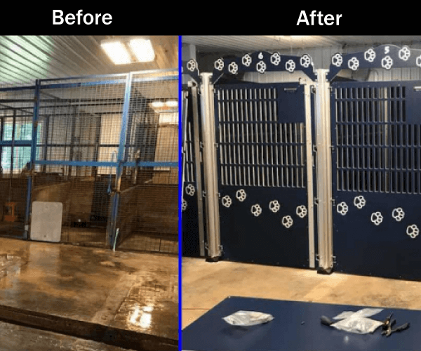 Garrard County Animal Shelter Before/After